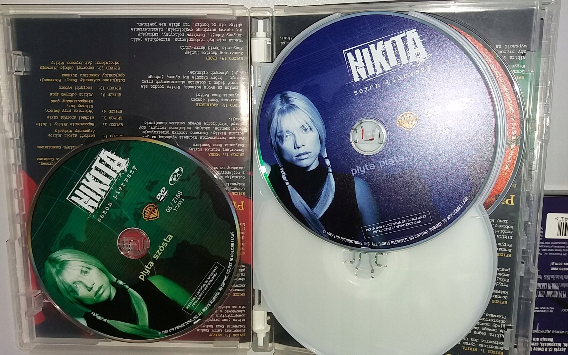 LA FEMME NIKITA SERIAL 1997 SEZON 1 BOX 6 DVD - 7482266304
