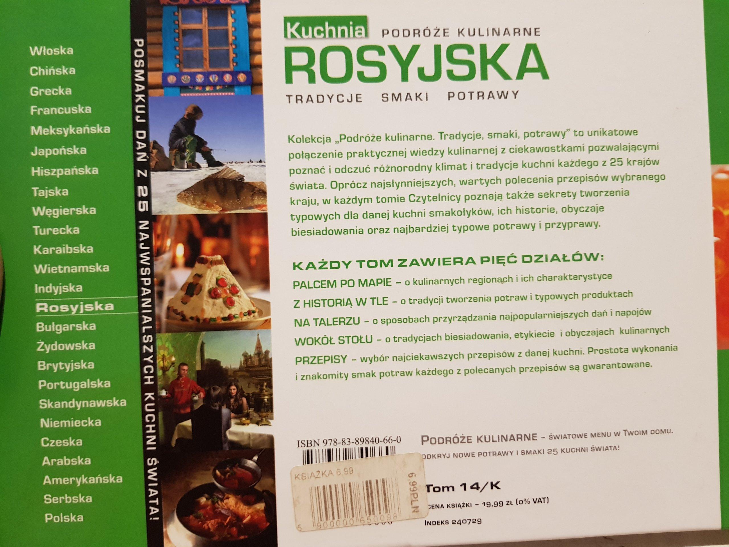 Kuchnia Rosyjska Podróże Kulinarne Kwapisz