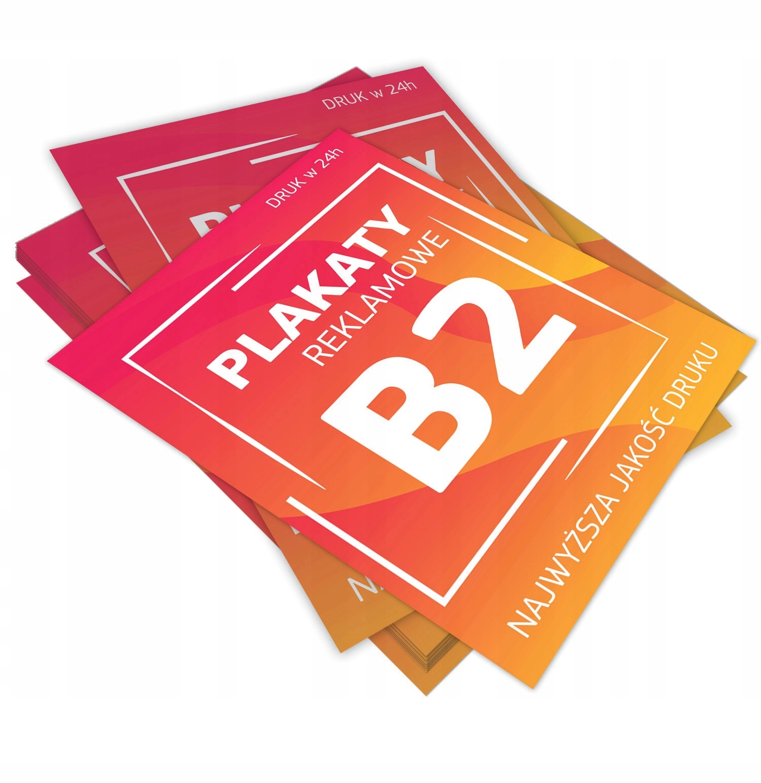 Plakaty Reklamowe B2 Druk 10szt Promocja 7528162254