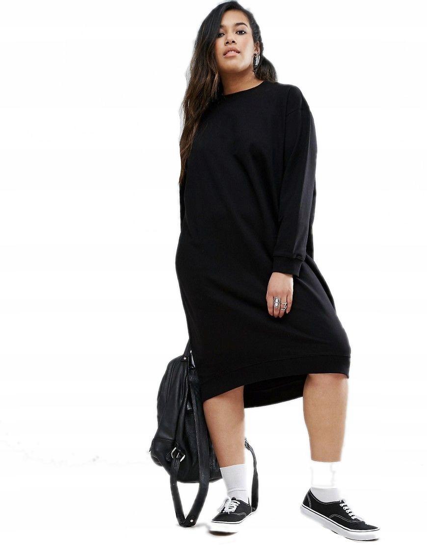 fb51eabe23 sukienka DRESOWA plus size BLUZA czarna 50 - 7209218915 - oficjalne ...