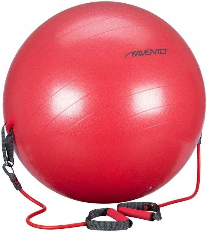 Piłka gimnastyczna z uchwytami Avento 65cm