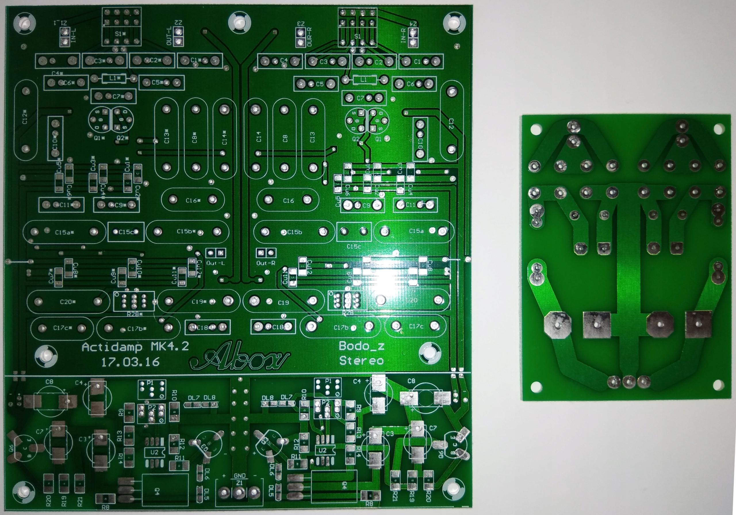 Przedwzmacniacz gramofonowy ACTIDAMP MkIV PCB v4.2