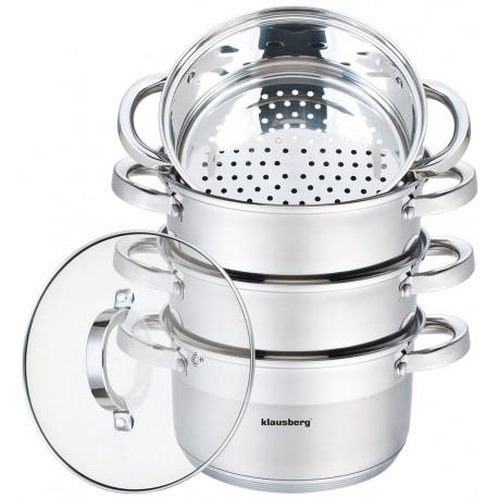 Parowar garnek do gotowania na parze 3,1 L 5 elem.