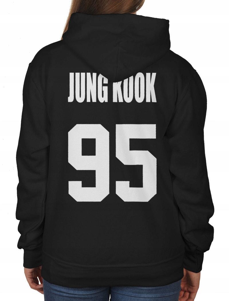 Blogerska bluza oversize z kapturem BTS Jung Kook