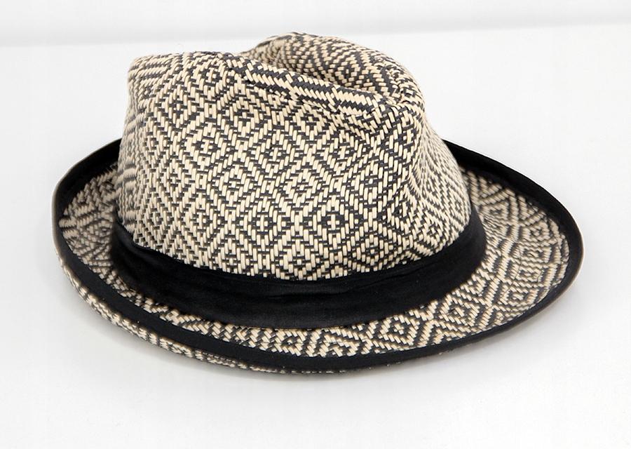 RESERVED kapelusz wiklina fedora kanotier słomkowy