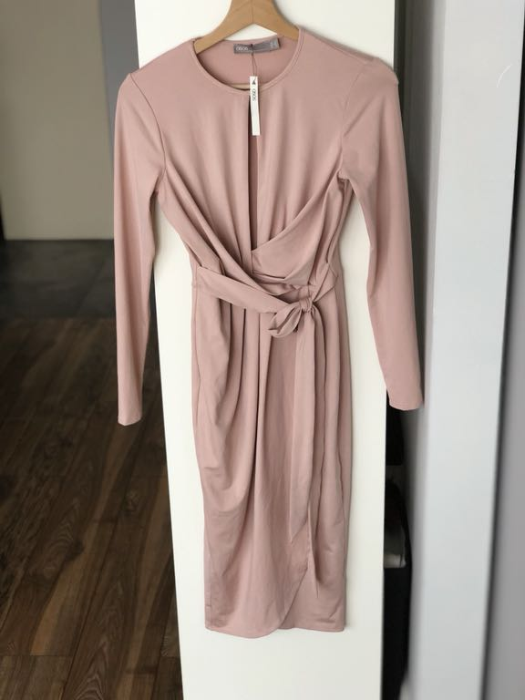 42609b6e22 Sukienka ASOS pudrowy róż 36 S - 7458013448 - oficjalne archiwum allegro