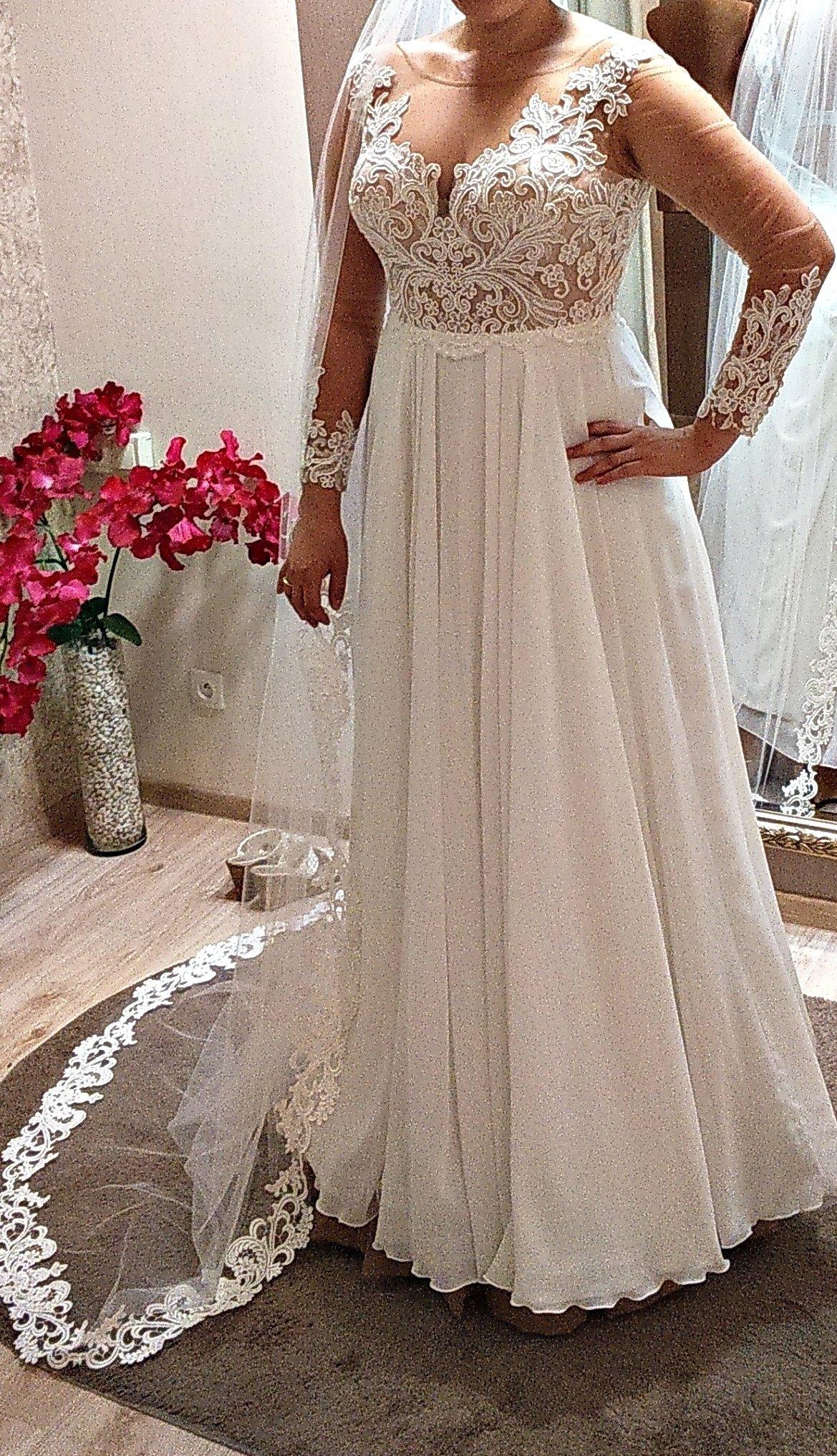 3c9dfaba48 suknia ślubna Kaledonia rozmiar 42