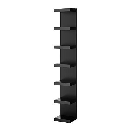 Lack Półka ścienna 30x190 Cm Regał Czarny Ikea 6850578326
