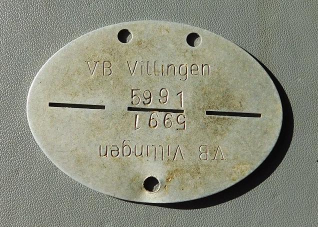 Nieśmiertelnik stalag VB Villingen + dokumenty !!!