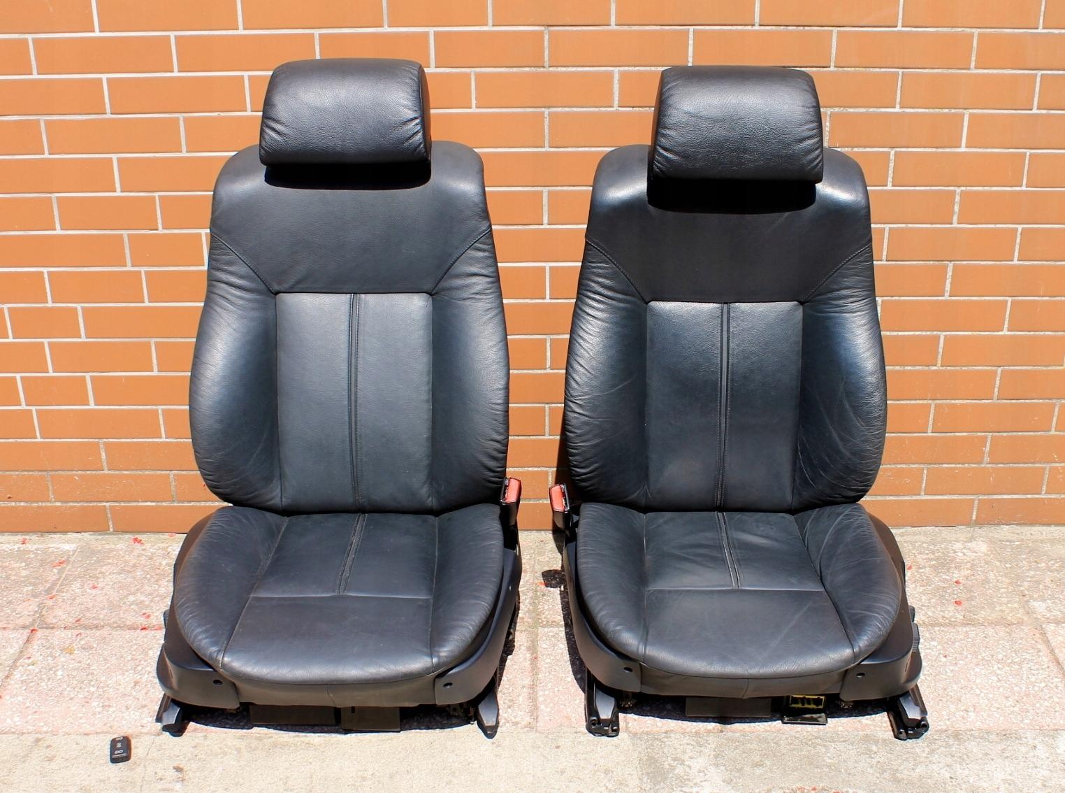 Bmw E38 Fotele Czarna Skóra Komfort Wentylowane Eu