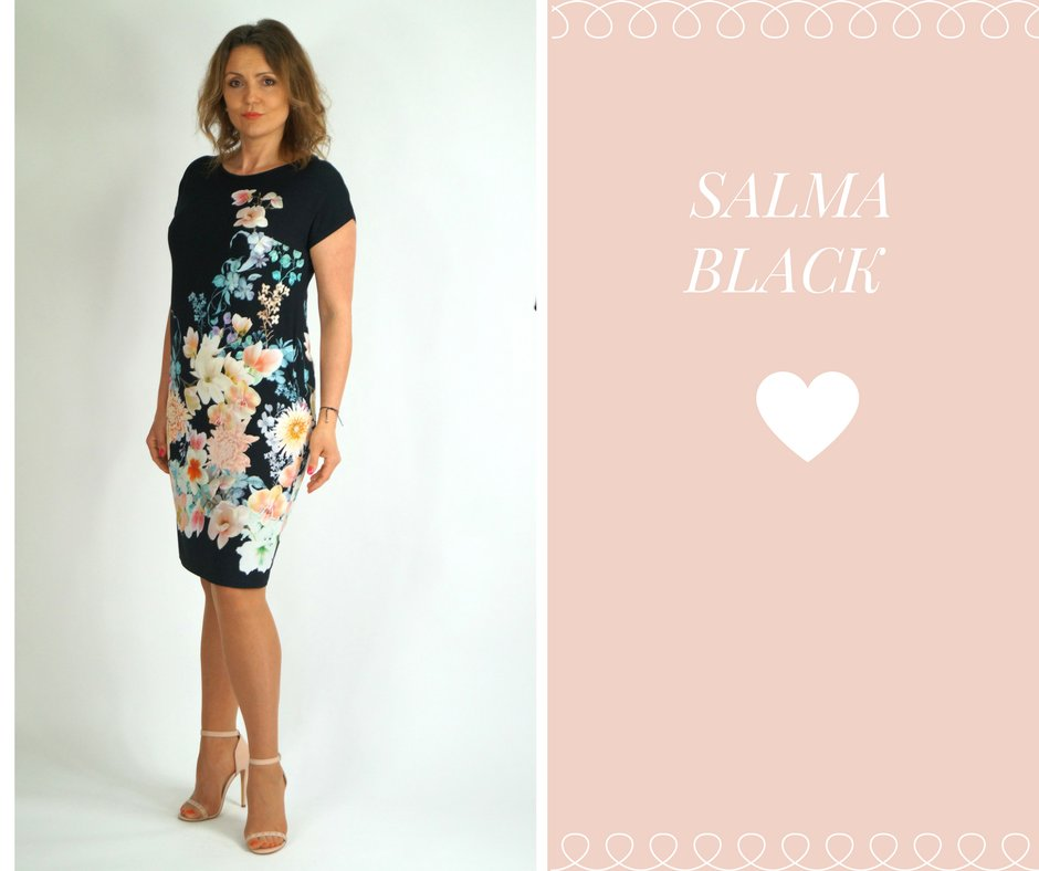 5fa48d86c0 ALEKS - SALMA BLACK świetna sukienka dzianina 48 - 7364838650 ...
