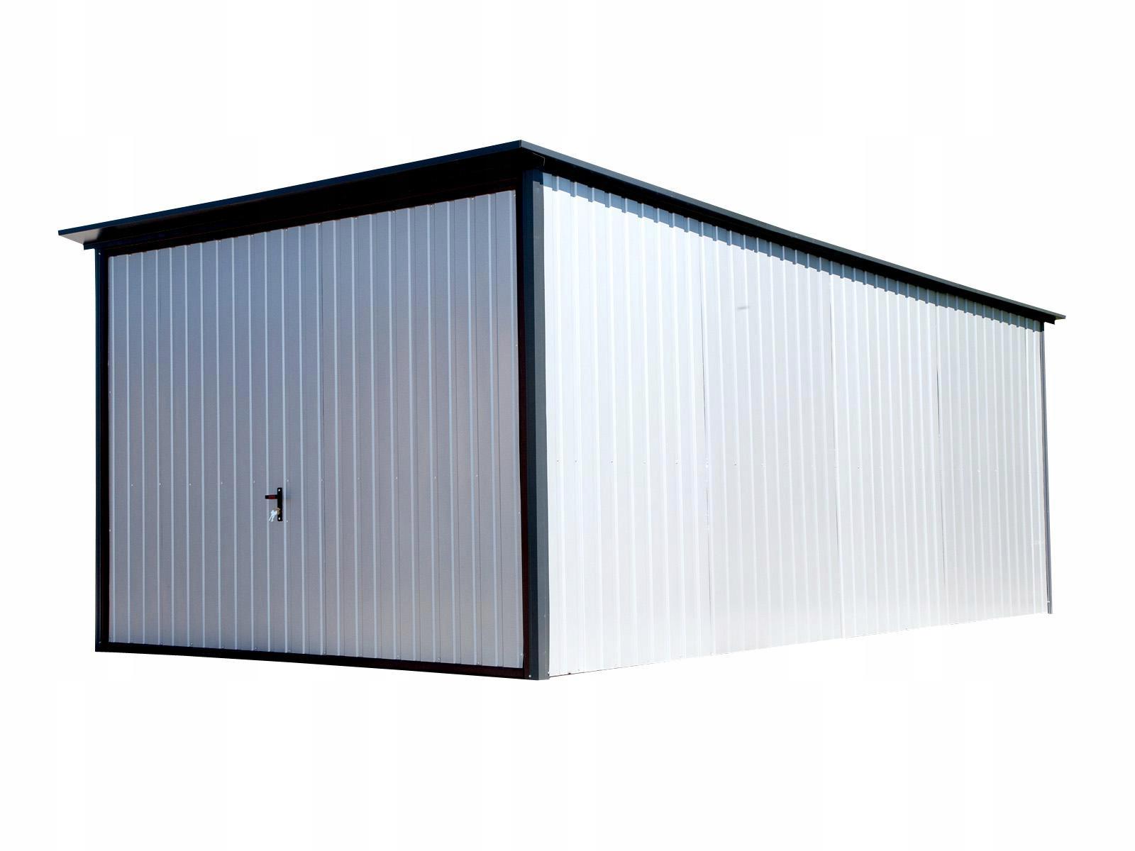 Garaż Blaszany 3x5 Premium Z Bramą Uchylną 7441979429 Oficjalne