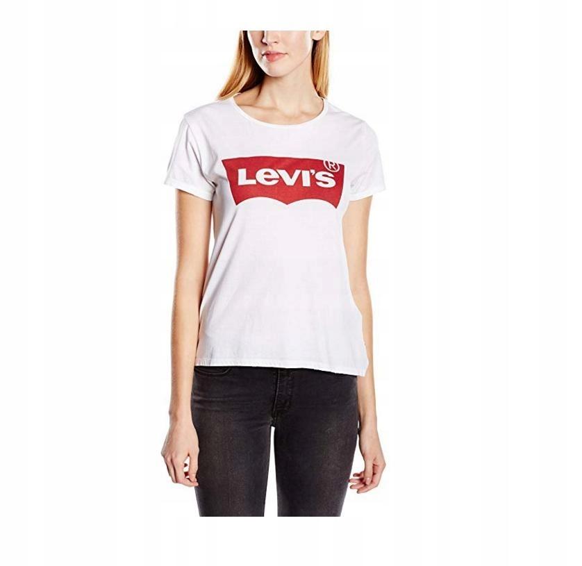 1cbe6d862 Koszulka damska z krótkim rękawem Levi's, biała,XS - 7551941031 ...