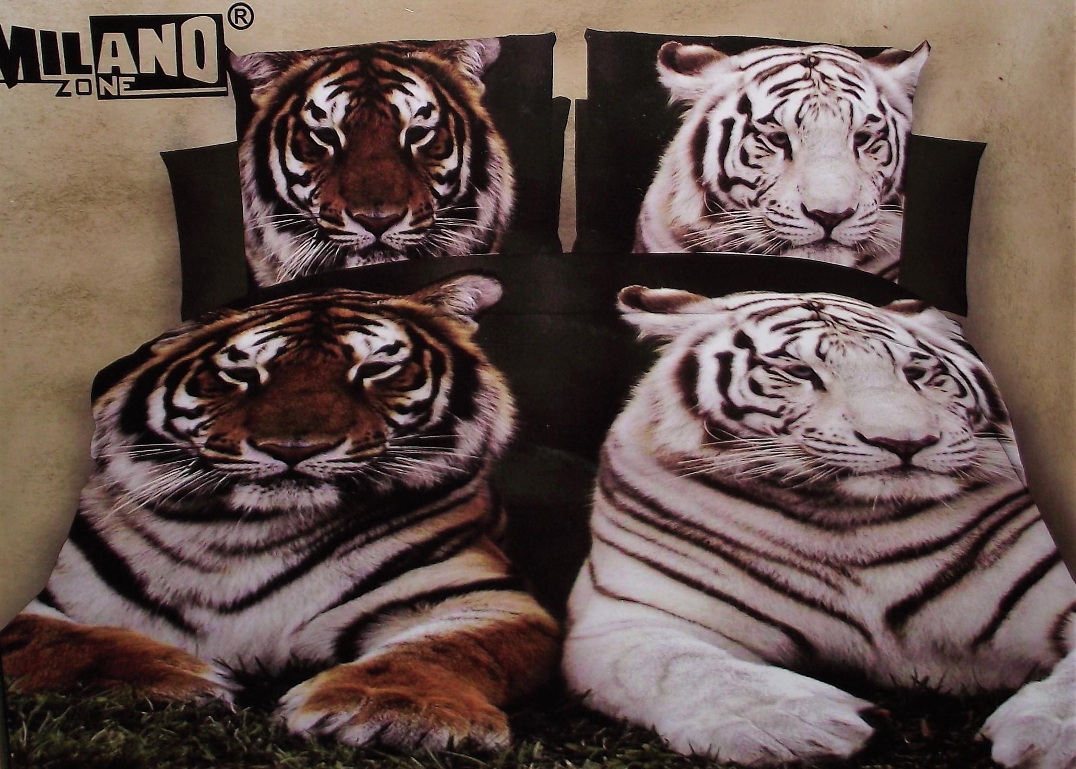 Dzikie Koty Tygrysy Pościel 3d 4cz 160x200 Milano 7079335211