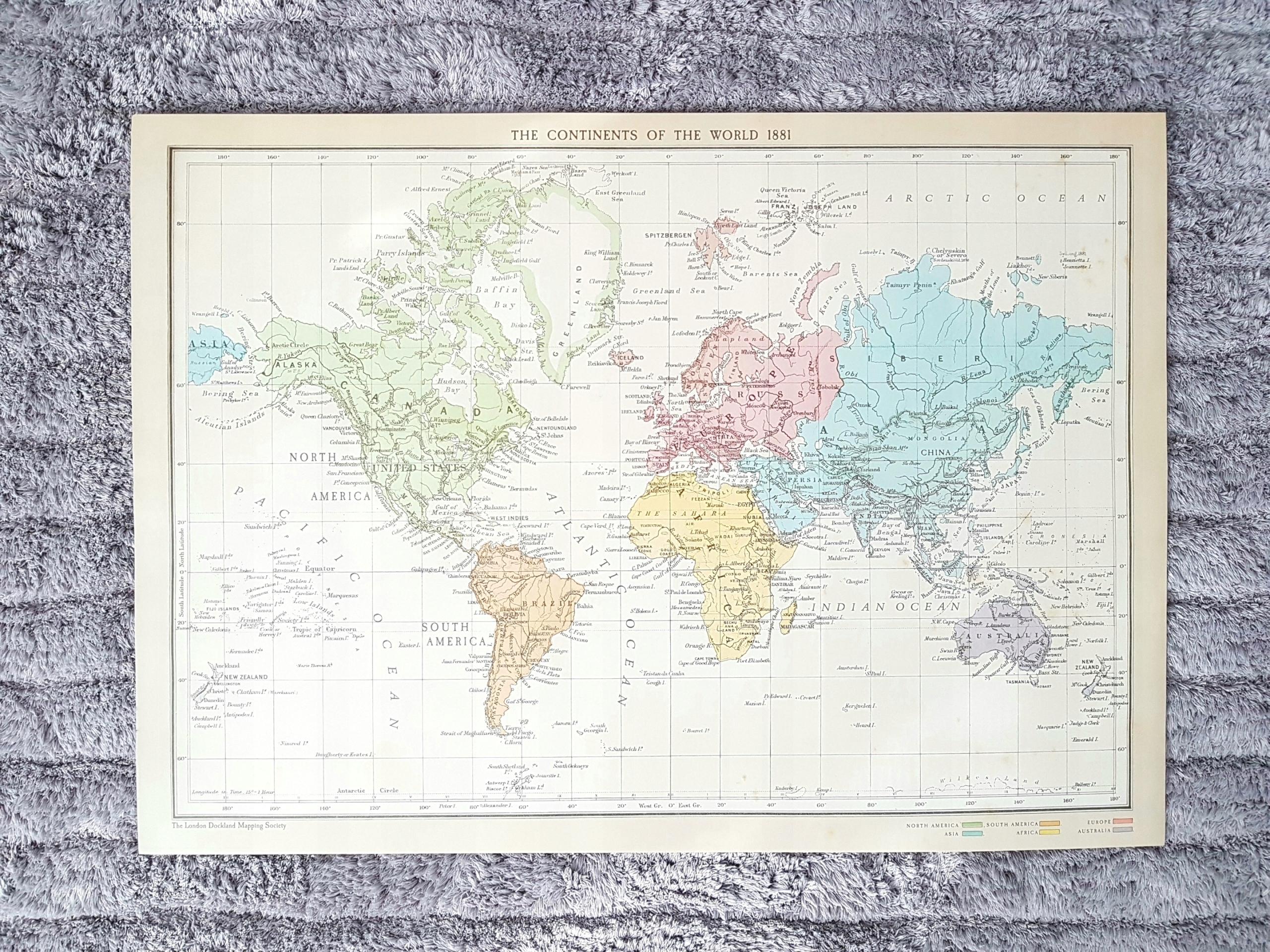 Ikea Bild Obraz Plakat Grafika Mapa świata 50x70