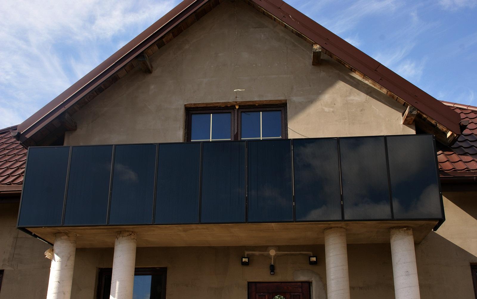 Panele Fotowoltaiczne Na Barierkę Balkon Prąd 7178496983