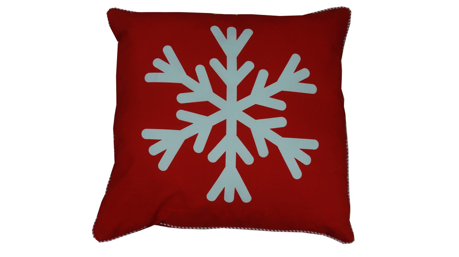 Poduszka Dekoracyjna Śnieżynka Boże Narodzenie baw