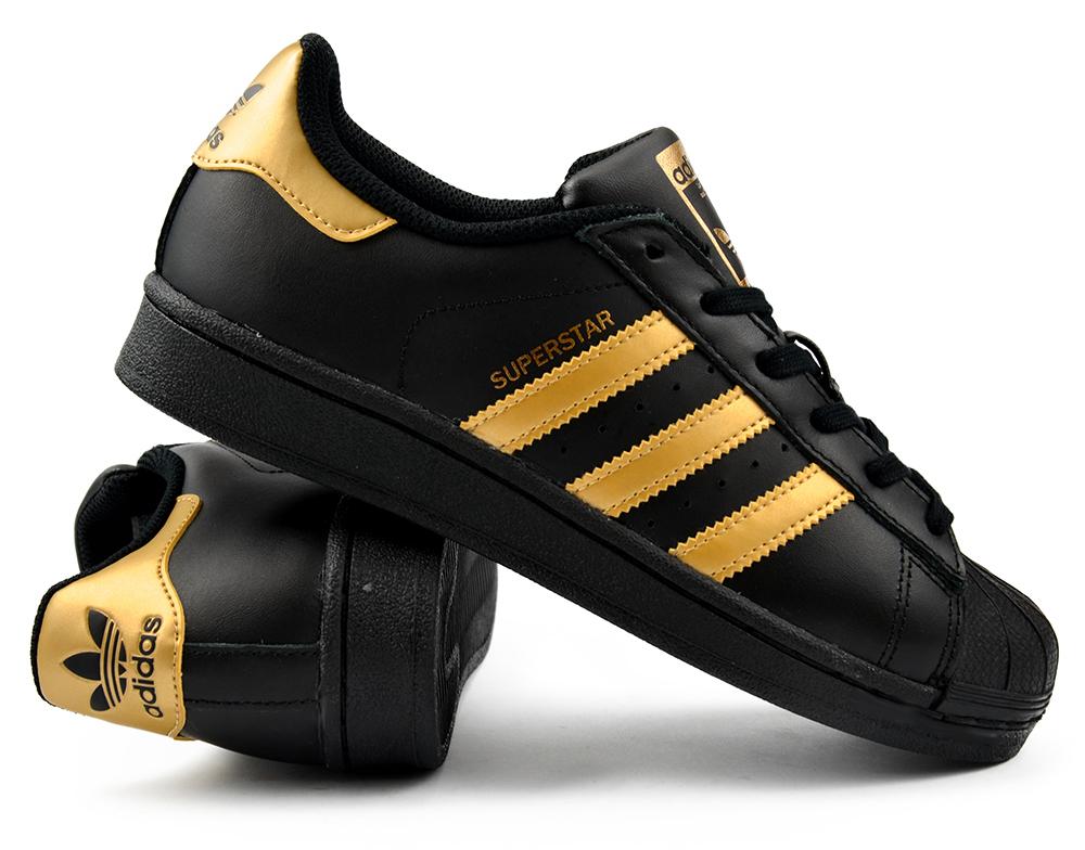 adidas superstar damskie czarno złote