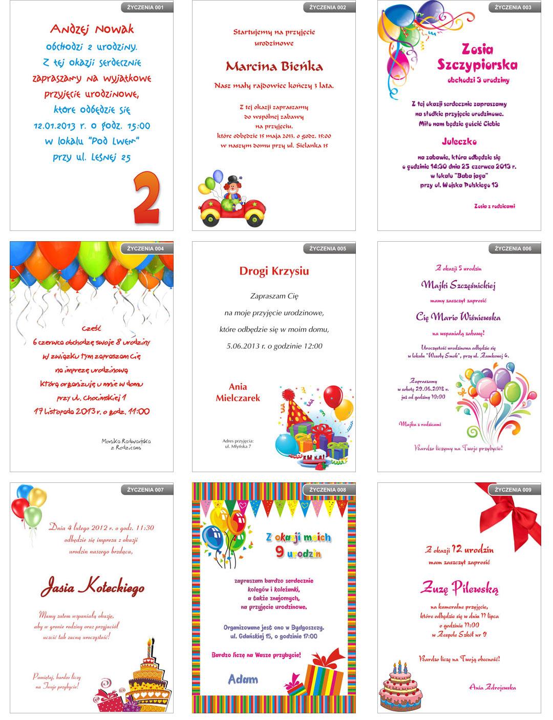 Zaproszenie Na Roczek Urodziny Kalendarz Gratis 7582629787