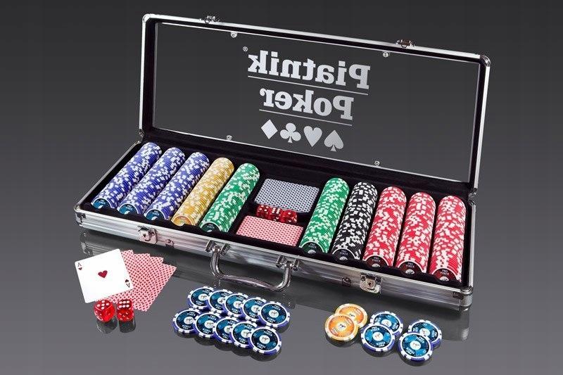 Pro Poker Alu-Case - 500 żetonów 14g!