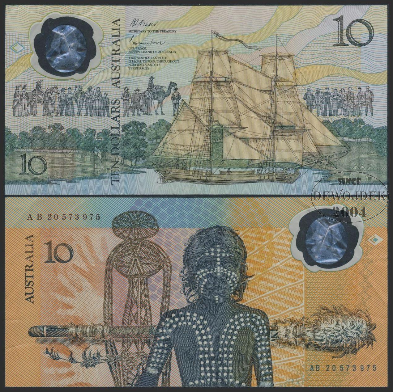 MAX - AUSTRALIA 10 Dollars 1988 AB20 POLIMER # VF-