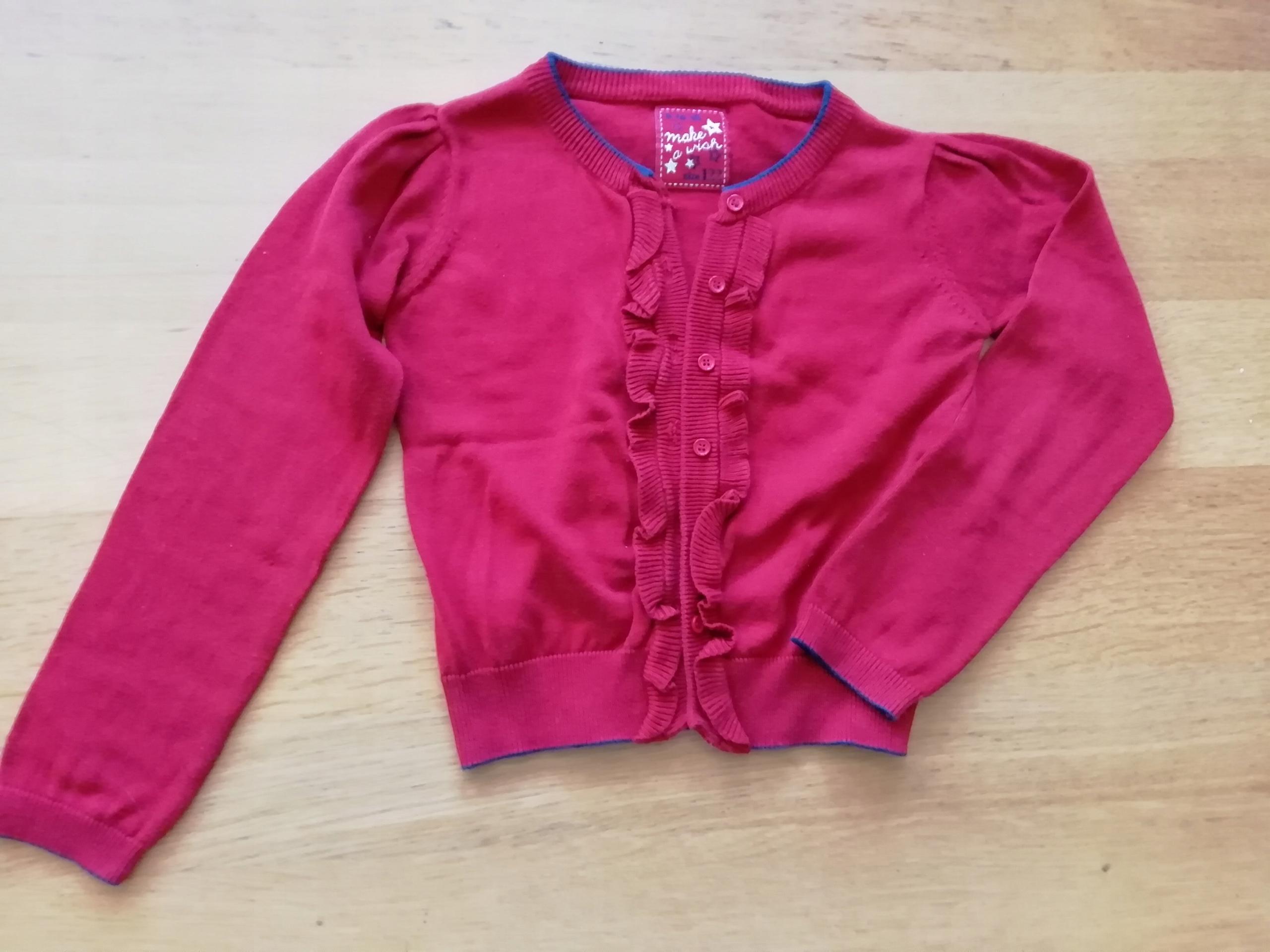0c906e47fe Elegancki rozpinany sweterek dla dziewczynki - 7671791460 ...