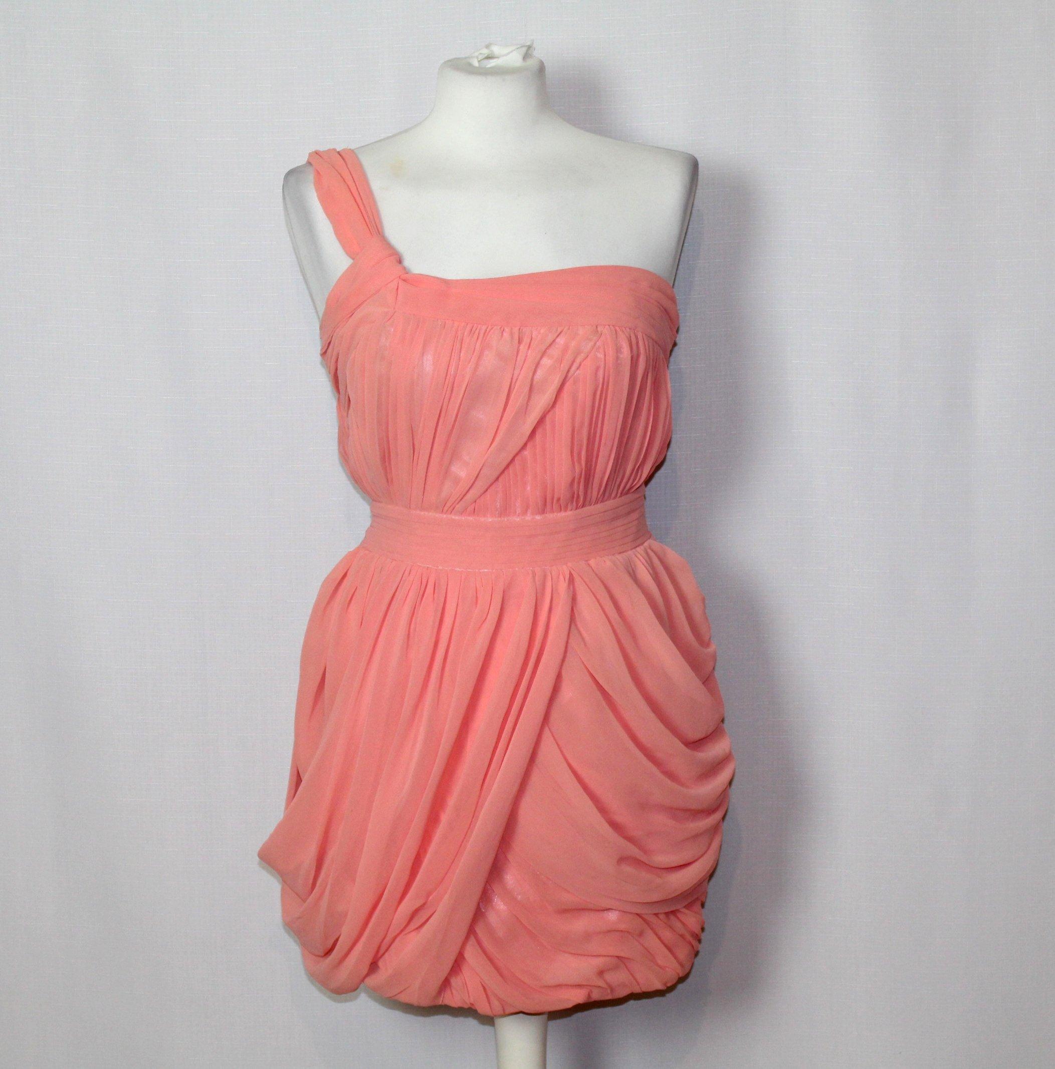 52bf830c19 Łososiowa sukienka szyfonowa LIPSY 36 S 8 - 7131285629 - oficjalne ...
