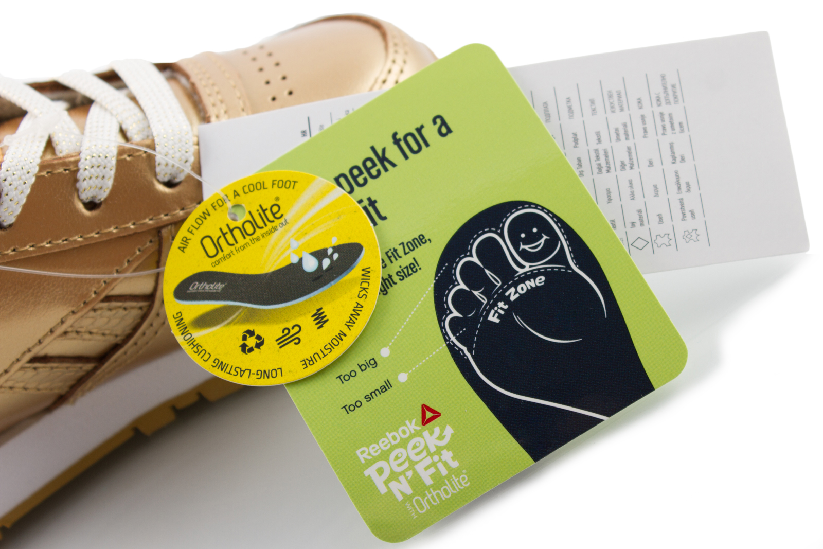 REEBOK CLASSIC buty dziecięce skórzane ZŁOTE 23,5