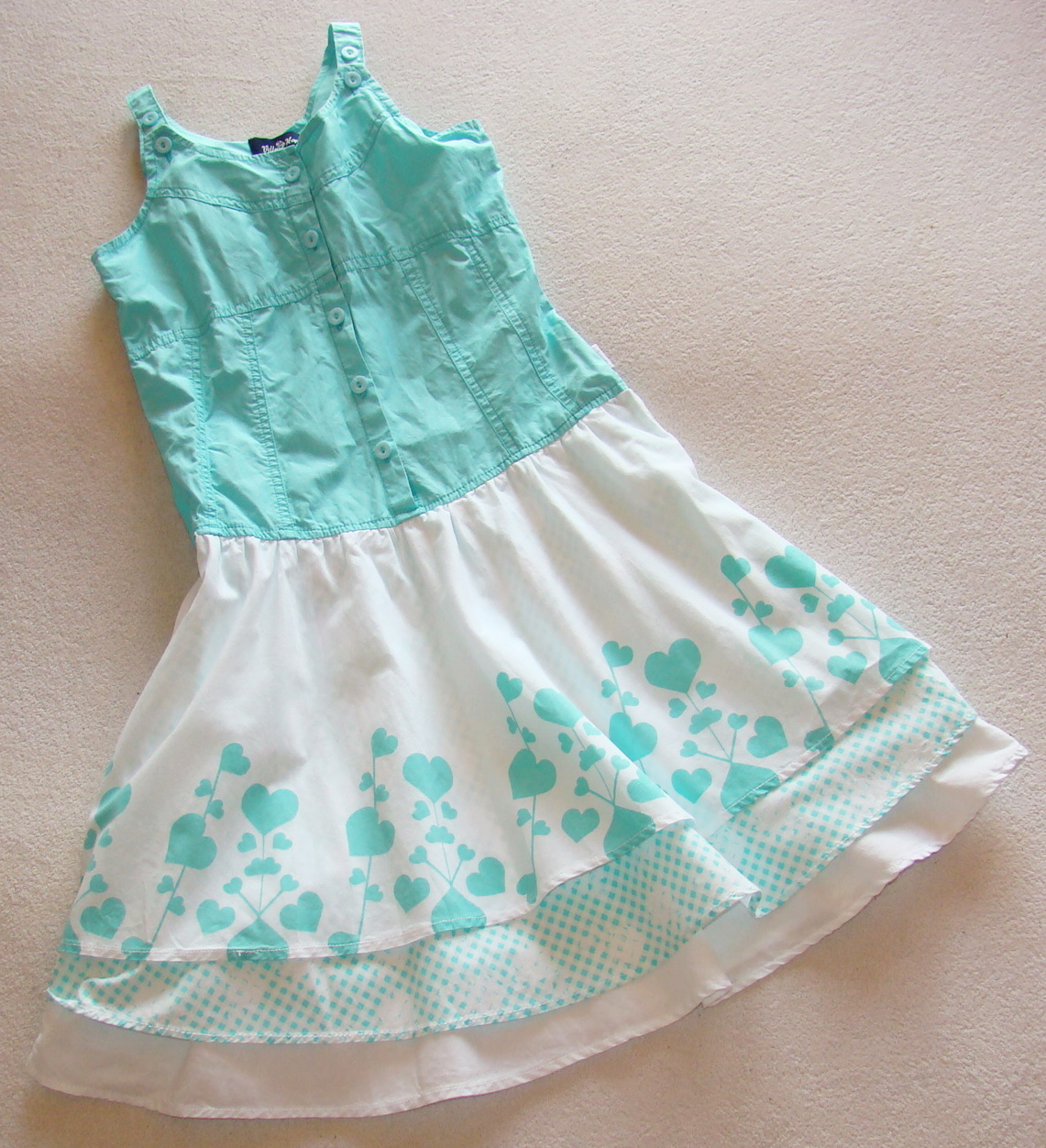 b75ab7dc35 Śliczna sukienka 140 cm 9-10 lat LATO VILLA HAPP - 7328817611 ...