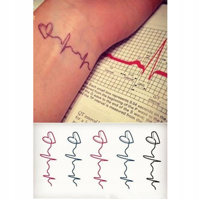 Hc0112 Tatuaż Tymczasowy Puls Serca 7477156216 Oficjalne
