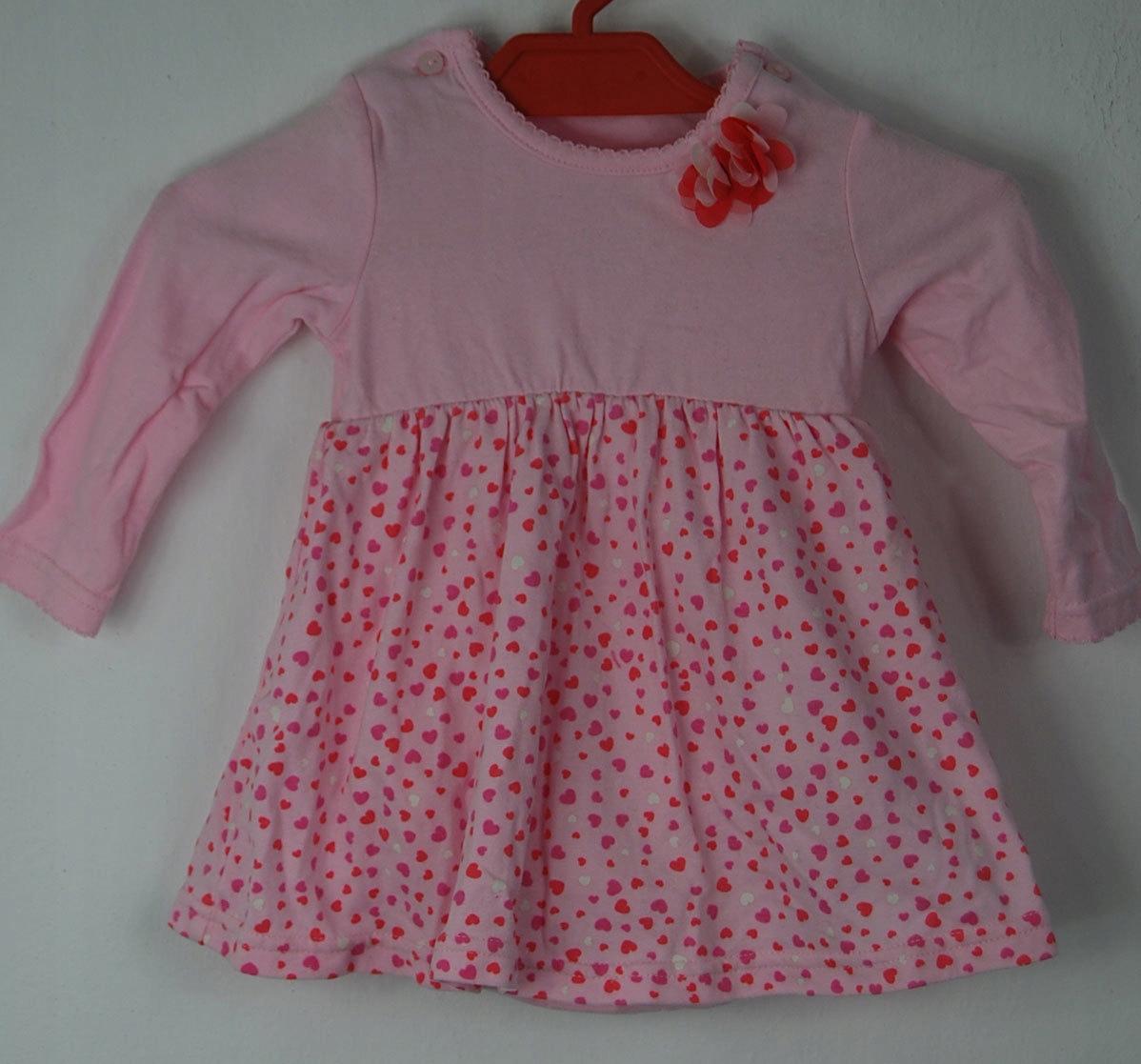 34c83bdbbd H M sukienka body 62 cm różowa serduszka - 7617874701 - oficjalne ...
