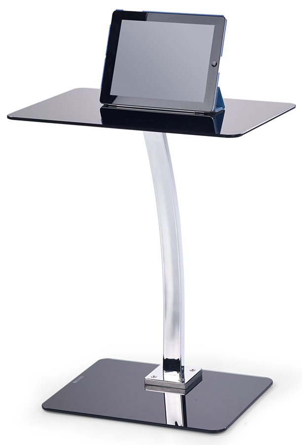 Stolik Pod Laptopa B 25 Halmar Czarny Szkłochrom 7210933811