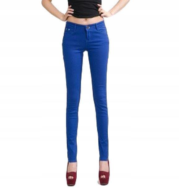 13327a53 Spodnie damskie rurki obcisłe kolorowe SEXY r. XXL - 7298718378 ...