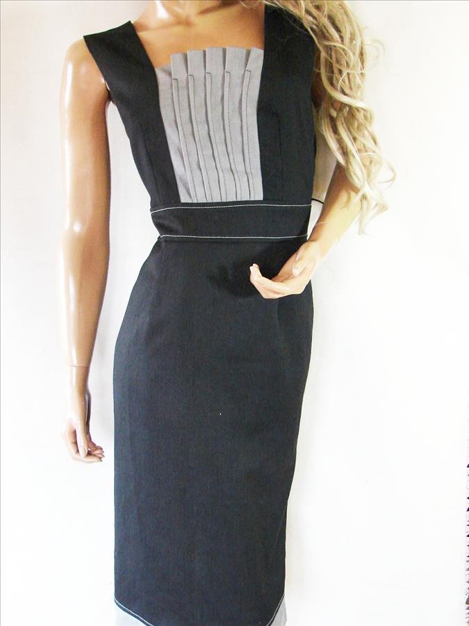 e5b5ad4636 MODERN LINE Sukienka BIUROWA podszewka r.44 - 7262218032 - oficjalne ...