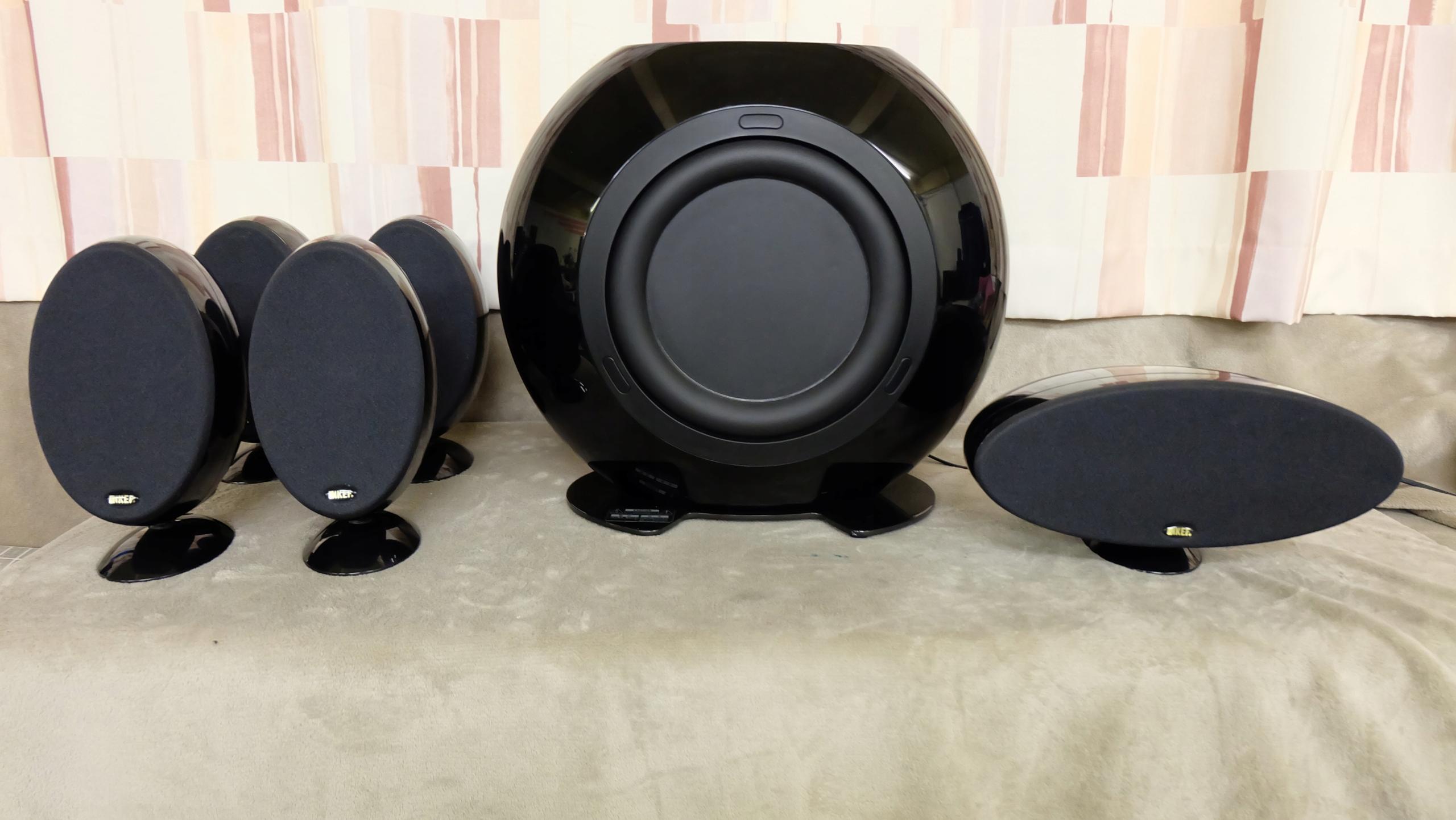 KEF KHT 3005 SE 5.1 czarne High Gloss