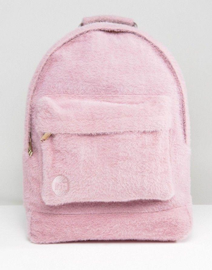 MI-PAC Plecak różowy futerko (NOS) NEW