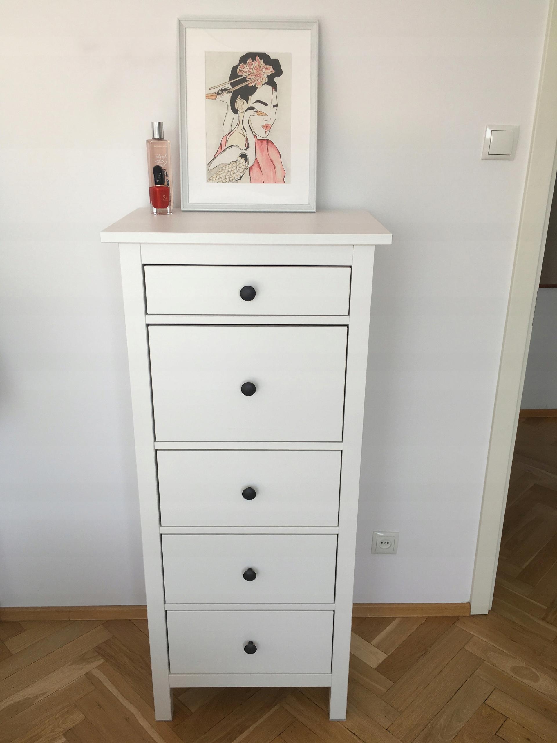 Komoda Ikea Hemnes Biala Bejca 5 Szuflad 7527042166 Oficjalne