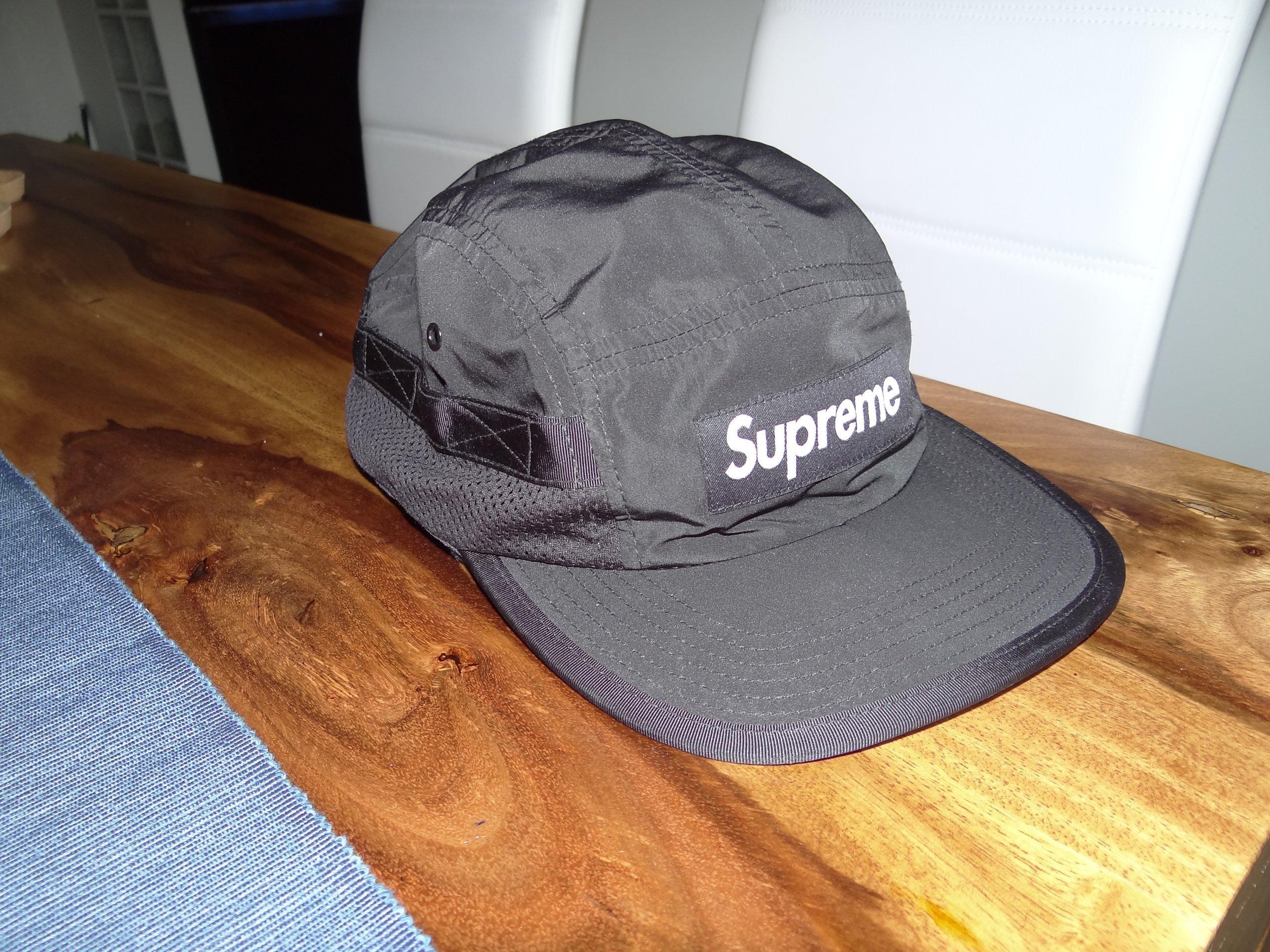 ec8a730bc8e Supreme box logo black side mesh pocket 5 panel - 7277356869 ...