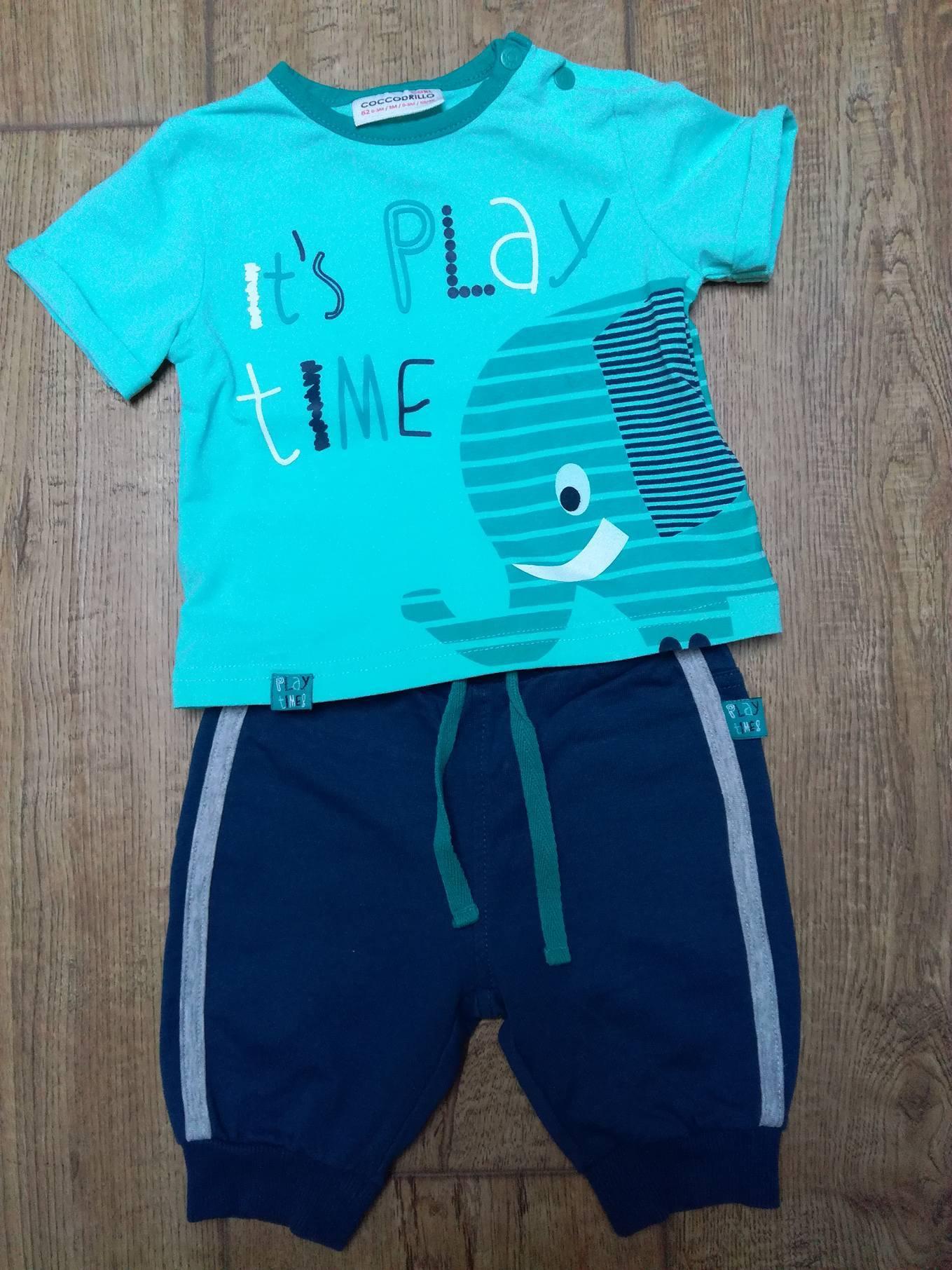 1d947fd4109b0 Coccodrillo - spodnie dresowe i koszulka, rozm. 62 - 6979879640 ...