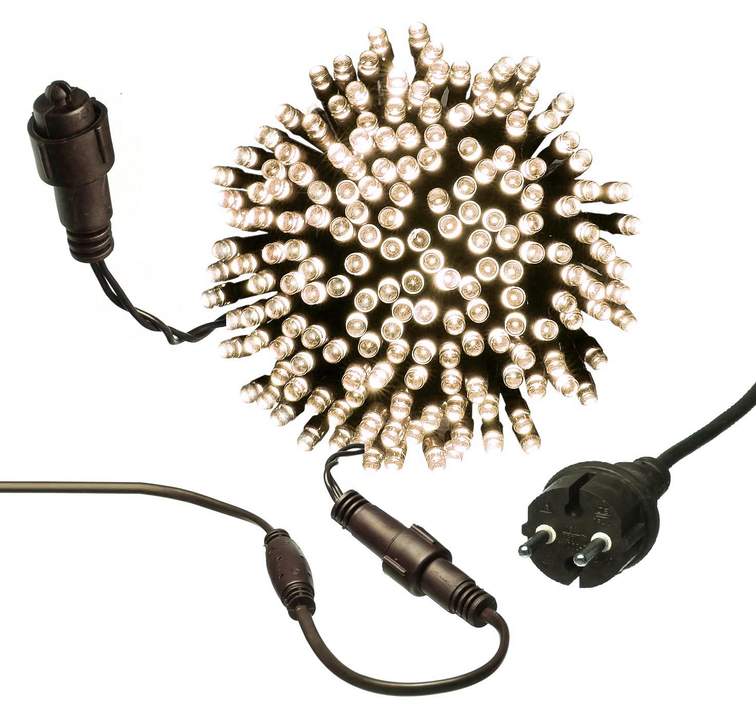 LAMPKI CHOINKOWE 500 LED ZEWNĘTRZNE stałe światło   7012630878
