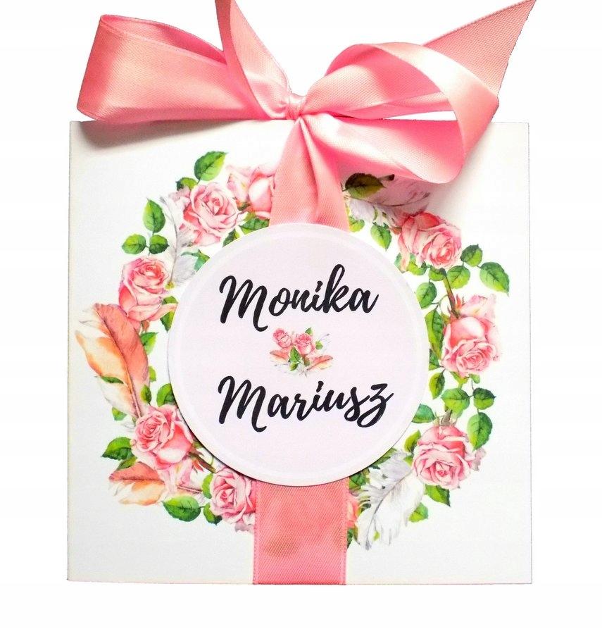 Zaproszenia ślubne Kwiaty Wianek Piwonia Róża 6679797437