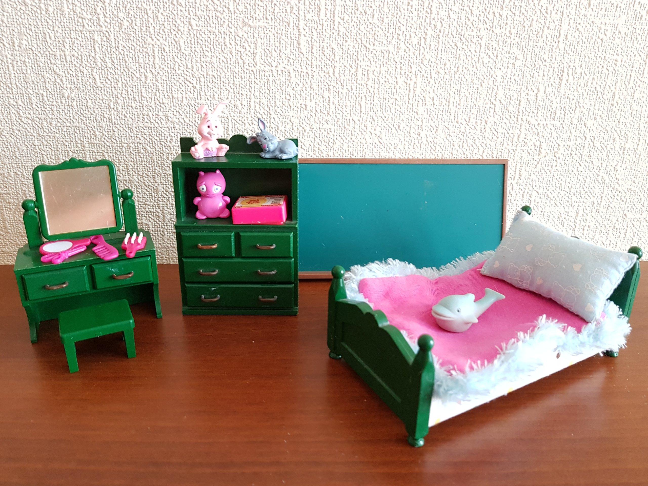 Sylvanian Families Pokój Sypialnia łóżko Toaletka