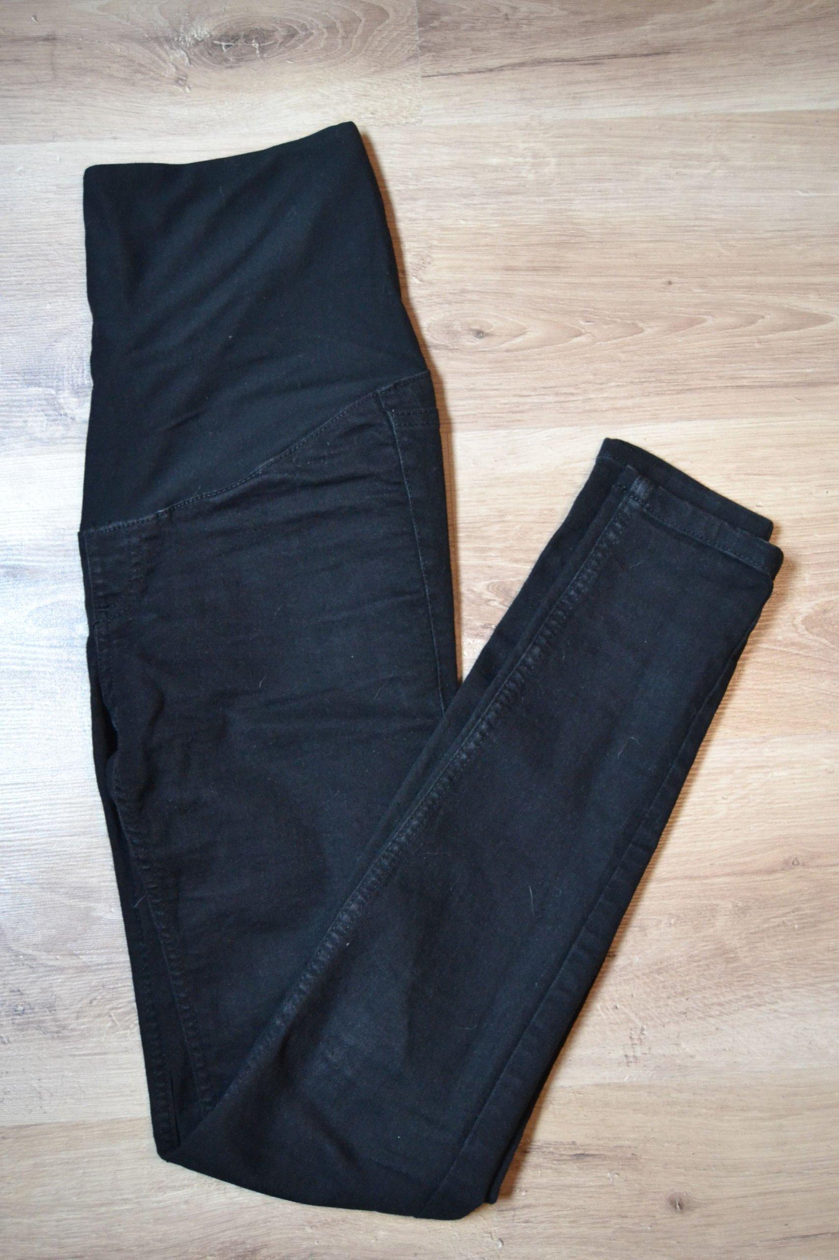 bbdc7a865a107c H&M mama spodnie ciążowe xs 34 czarne jak nowe - 7323586091 ...