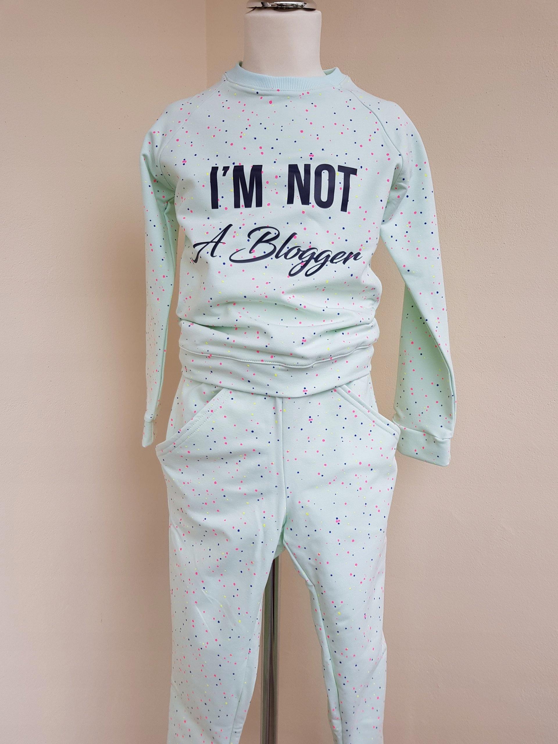 a7fff1478 Dres dla dziewczynki spodnie baggy i bluza 140 146 - 7424501547 ...