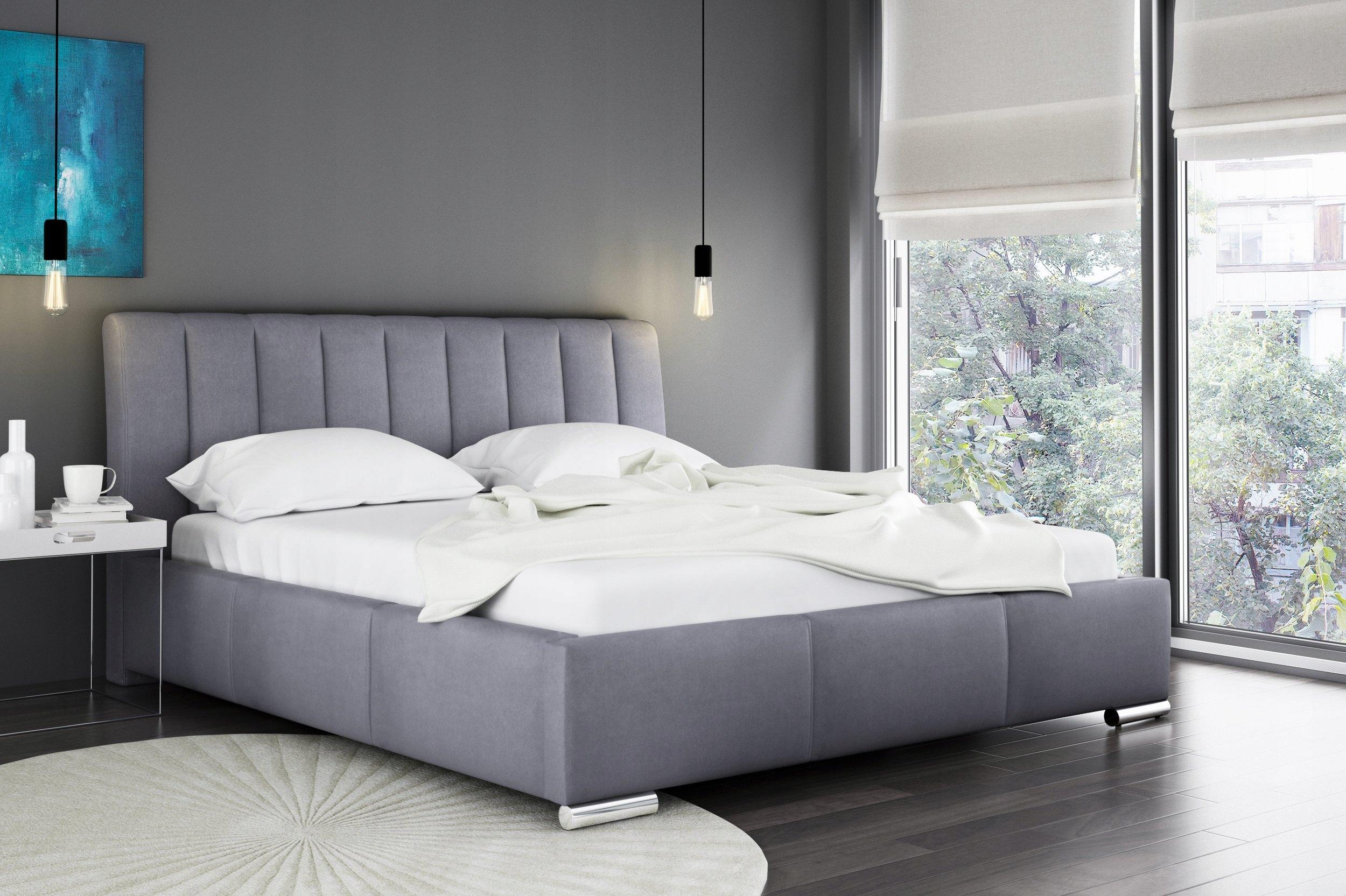 łóżko Tapicerowane 140x200 łoże Stelaż Pojemnik 7014014072