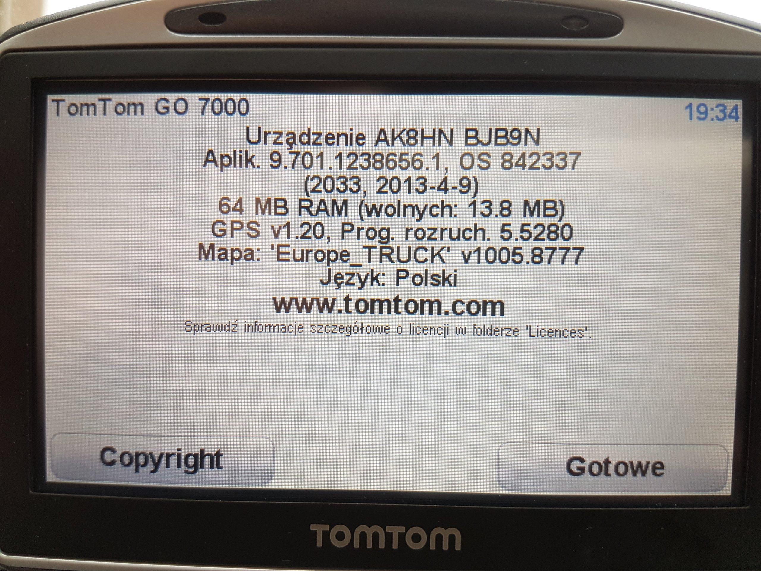 Nowy TomTom GO 7000 Truck z TMC - 7338609390 - oficjalne