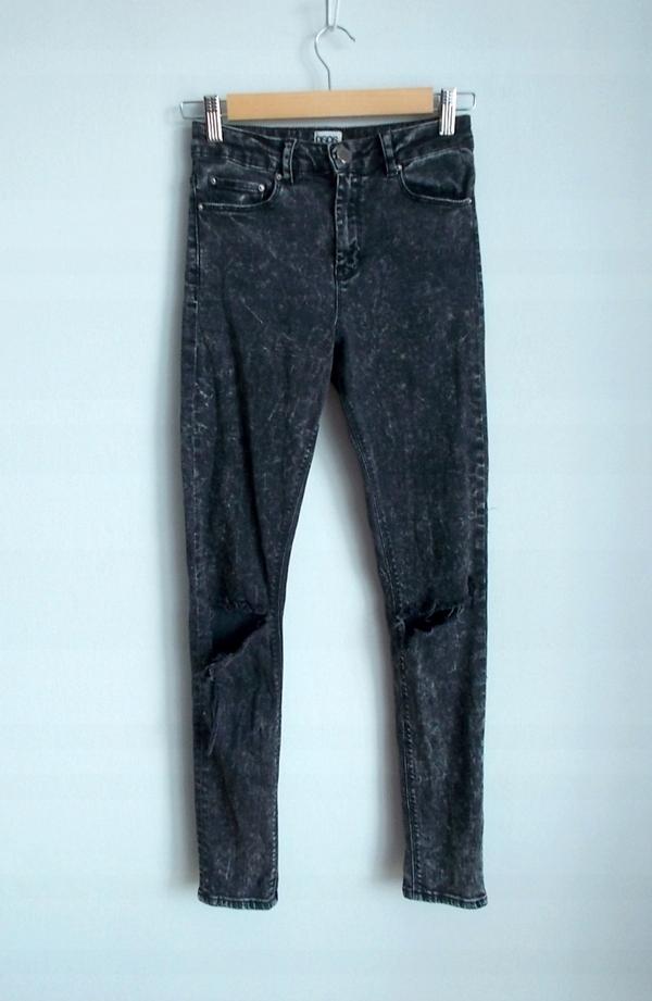 9ee3e6ea5b95 ASOS spodnie rurki z dziurami marmurki skinny - 7572157630 ...