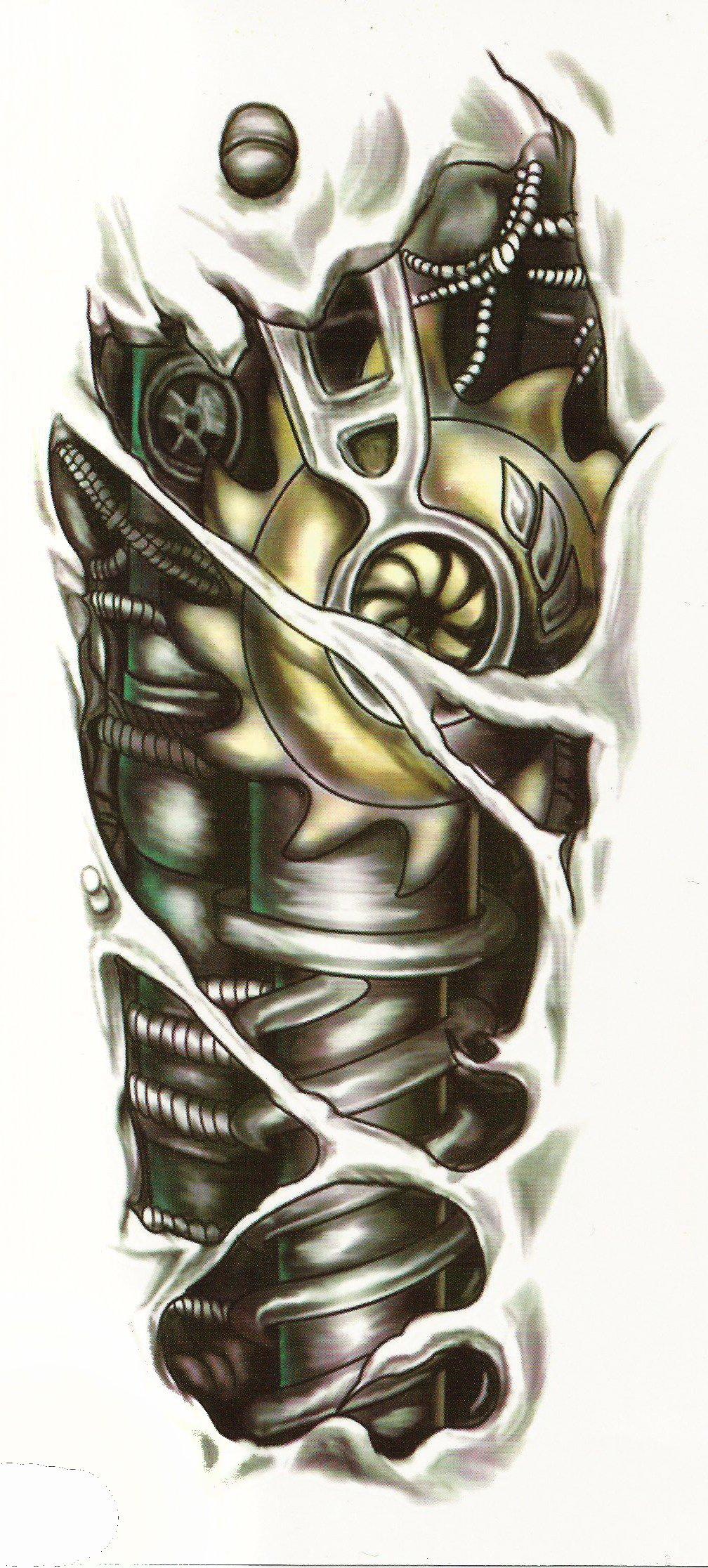 Tatuaż 3d Robot żółty Qs C058 6699960215 Oficjalne