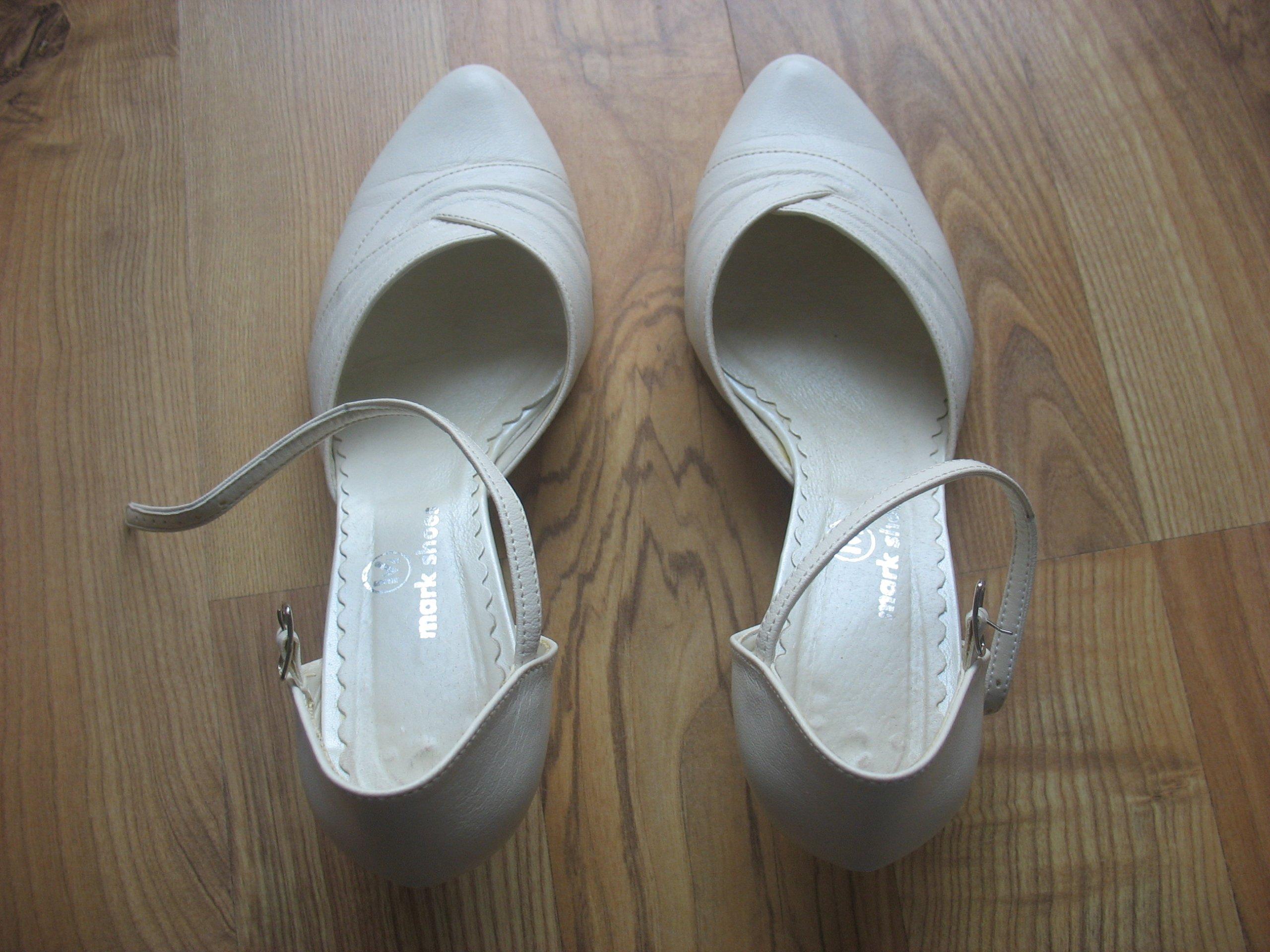 71a7b6f9 Buty ślubne Mark Shoes rozmiar 38, kolor ecru eko - 7320535834 ...