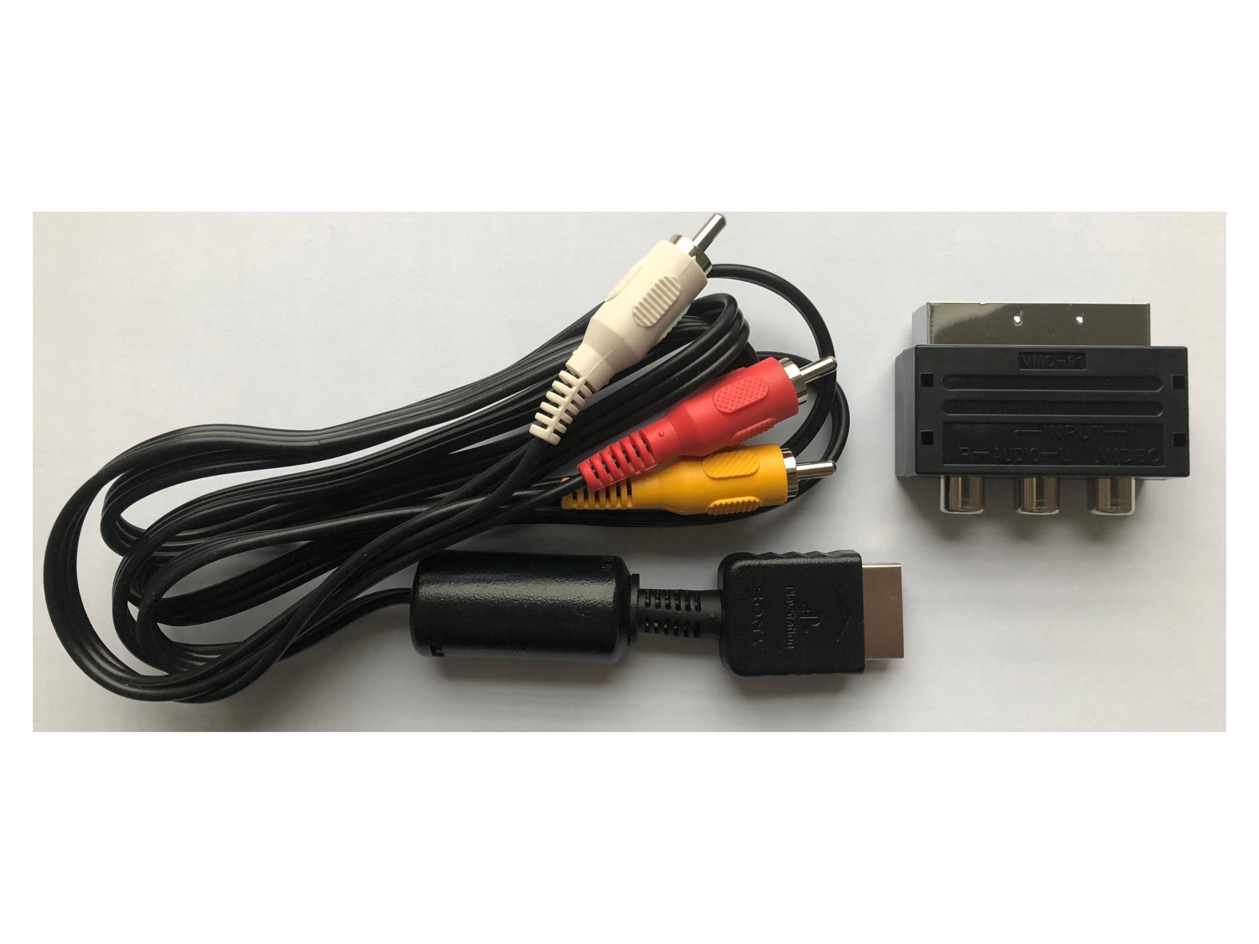 Kabel AV TV RCA CHINCH PLAYSTATION PS3 PS2